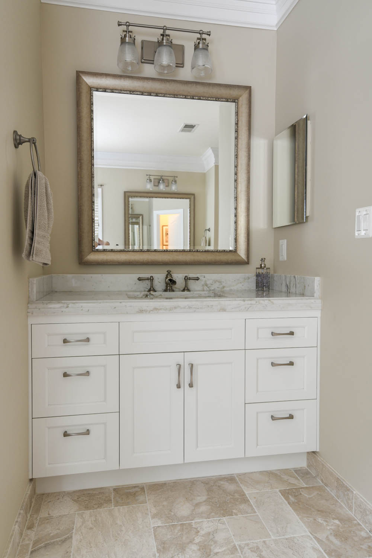 new sink in bathroom